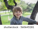 portrait of a boy playing in a...   Shutterstock . vector #560645281