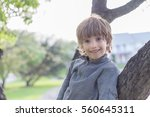 portrait of a boy playing in a...   Shutterstock . vector #560645311
