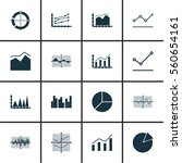 set of graphs  diagrams and... | Shutterstock . vector #560654161