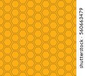 a seamless vector honeycomb...   Shutterstock .eps vector #560663479