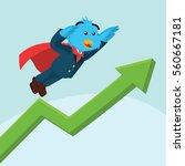 business bird with superpower... | Shutterstock . vector #560667181