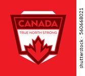 a canadian crest in vector... | Shutterstock .eps vector #560668021