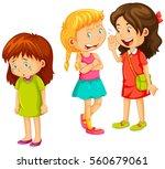 girls gossipping other friend... | Shutterstock .eps vector #560679061