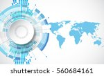vector digital global... | Shutterstock .eps vector #560684161