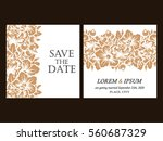romantic invitation. wedding ... | Shutterstock . vector #560687329