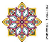 flower mandalas. vintage... | Shutterstock .eps vector #560687569