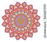 flower mandalas. vintage...   Shutterstock .eps vector #560687599
