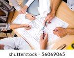 meeting the team of engineers... | Shutterstock . vector #56069065