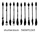 set of silhouettes american... | Shutterstock .eps vector #560691265