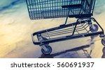 shopping cart trolley... | Shutterstock . vector #560691937