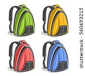 vector set colorful hiking... | Shutterstock .eps vector #560693215
