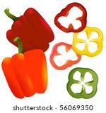 paprika. vector. | Shutterstock .eps vector #56069350