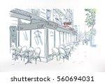 paris cafe outdoor sketch...