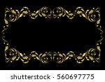 gold frame and borders. floral...