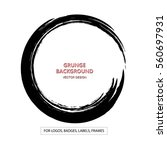 hand drawn circle shape. label  ... | Shutterstock .eps vector #560697931