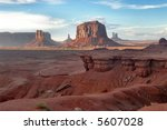 monument valley scenario ... | Shutterstock . vector #5607028