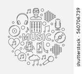 music line round illustration.... | Shutterstock .eps vector #560706739