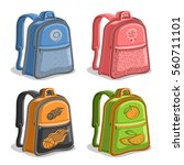 vector set colorful kids... | Shutterstock .eps vector #560711101