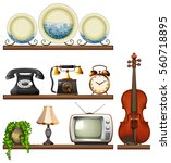 vintage collection with... | Shutterstock .eps vector #560718895