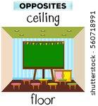 flashcard for opposite words... | Shutterstock .eps vector #560718991