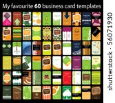 60 colorful vertical business... | Shutterstock .eps vector #56071930