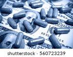 capsule on the one hundred... | Shutterstock . vector #560723239