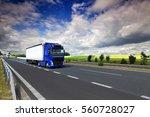 truck transportation | Shutterstock . vector #560728027