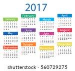 calendar for 2017 | Shutterstock .eps vector #560729275