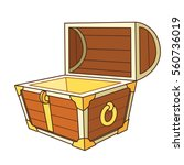 catroon treasure chest open | Shutterstock .eps vector #560736019