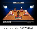 basketball court with... | Shutterstock .eps vector #560738269