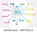 digital marketing mind map ... | Shutterstock .eps vector #560745211