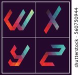 colorful polygonal font graphic ... | Shutterstock .eps vector #560750944