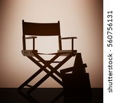 director chair  movie clapper...   Shutterstock . vector #560756131