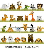 cartoon animals  big set  | Shutterstock .eps vector #56075674
