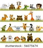 Stock vector cartoon animals big set 56075674