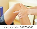 osteopathy therapist is... | Shutterstock . vector #560756845