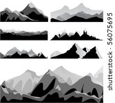 mountain set | Shutterstock .eps vector #56075695