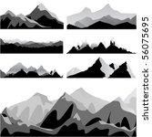 mountain set | Shutterstock .eps vector #56075695