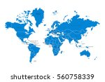 political map of the world.... | Shutterstock .eps vector #560758339
