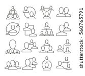 people network icons thin line...   Shutterstock .eps vector #560765791