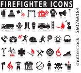 firefighter icons | Shutterstock .eps vector #560766184
