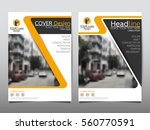 yellow flyer cover business... | Shutterstock .eps vector #560770591
