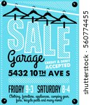 garage or yard sale with signs  ... | Shutterstock .eps vector #560774455