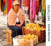 otavalo  ecuador   jan 3  2015  ... | Shutterstock . vector #560776531