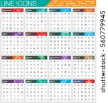 line icon sets for business ... | Shutterstock .eps vector #560779945
