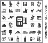 set of travel icons. contains... | Shutterstock .eps vector #560779981