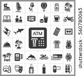 set of travel icons. contains... | Shutterstock .eps vector #560780065
