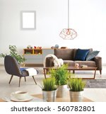 living room sofa and armchair... | Shutterstock . vector #560782801
