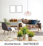 living room sofa and armchair... | Shutterstock . vector #560782825