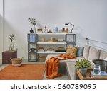 luxury office room detail... | Shutterstock . vector #560789095